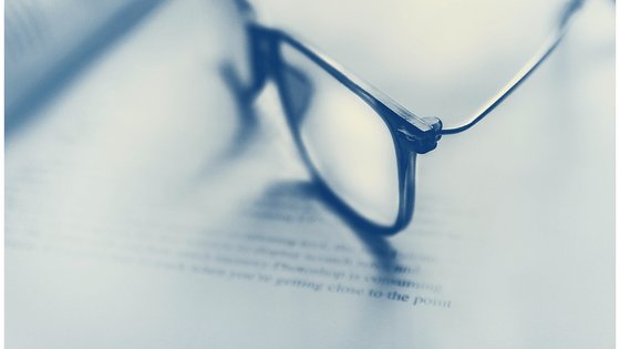 glasses sitting on book