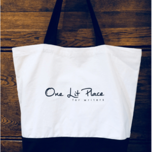 One Lit Place large tote bag