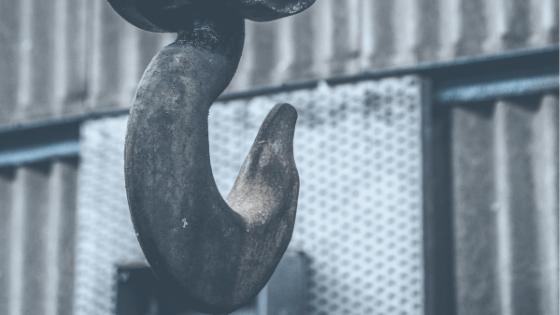 large metal hook