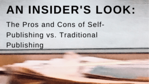 self-blurred image of papers for publishing vs. traditional publishing