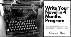 vintage typewriter with text