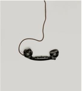 phone receiver dangling