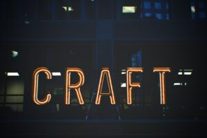 neon sign of word craft