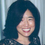 smiling woman with black hair