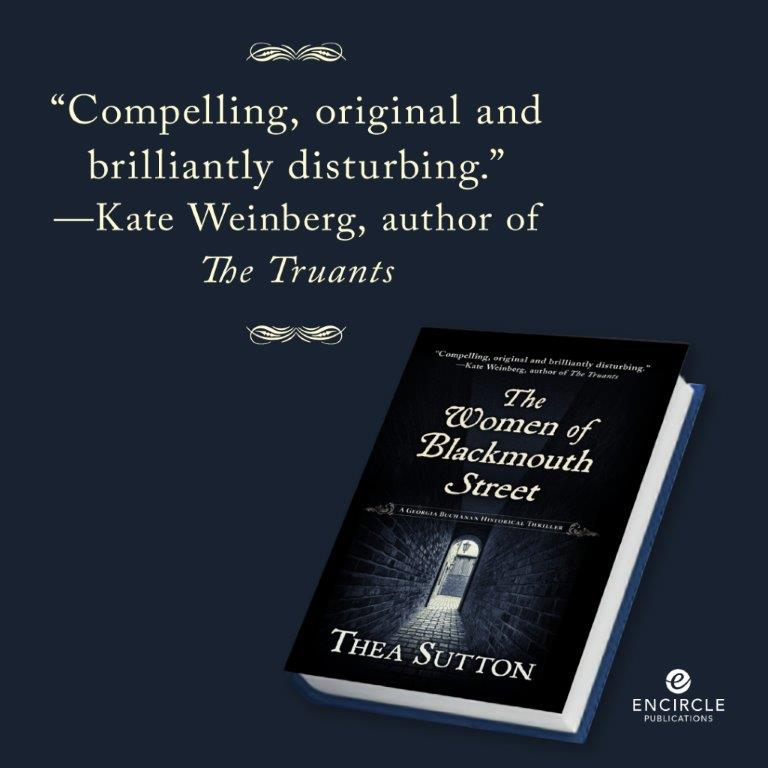 Thea Sutton's The Women of Blackmouth Street historical fiction novel book cover