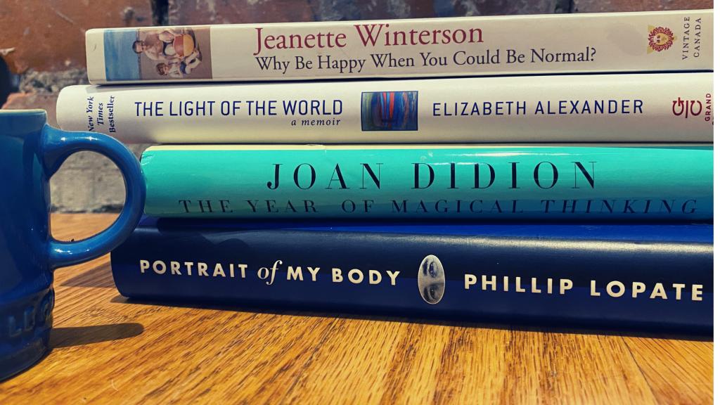 stack of memoirs